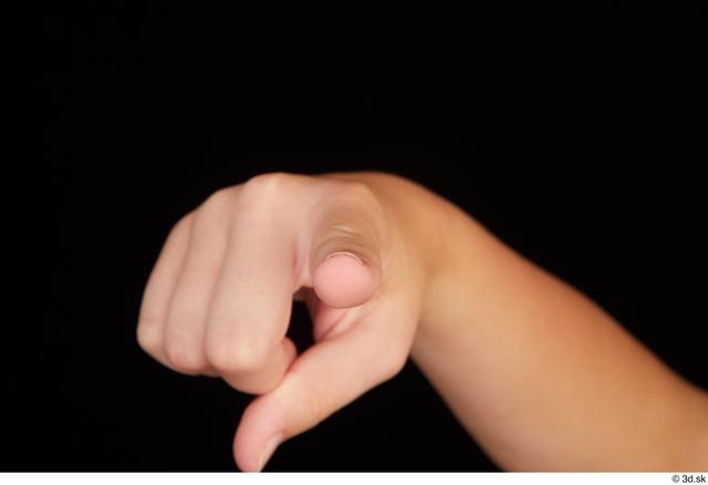 Fingers Woman White Average Studio photo references