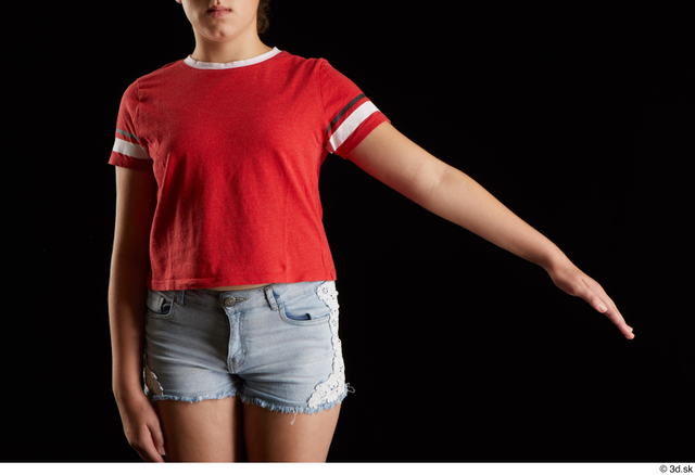 Arm Woman White Shirt Average Studio photo references