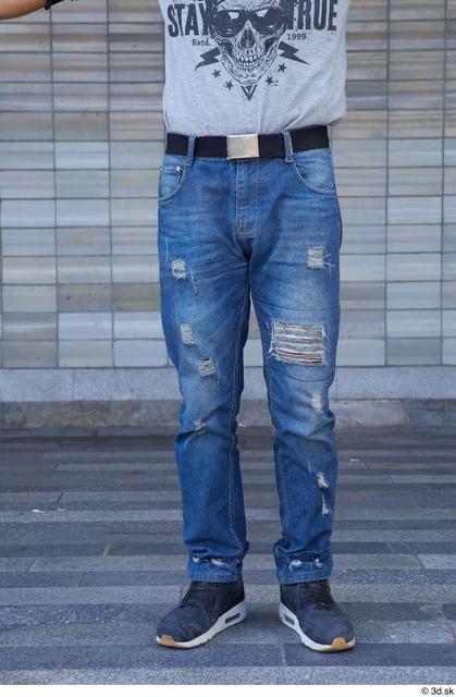 Leg Man White Casual Slim Street photo references