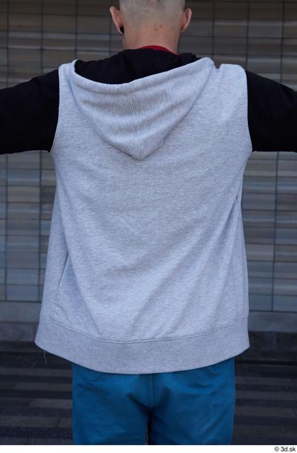 Upper Body Man White Casual Slim Street photo references