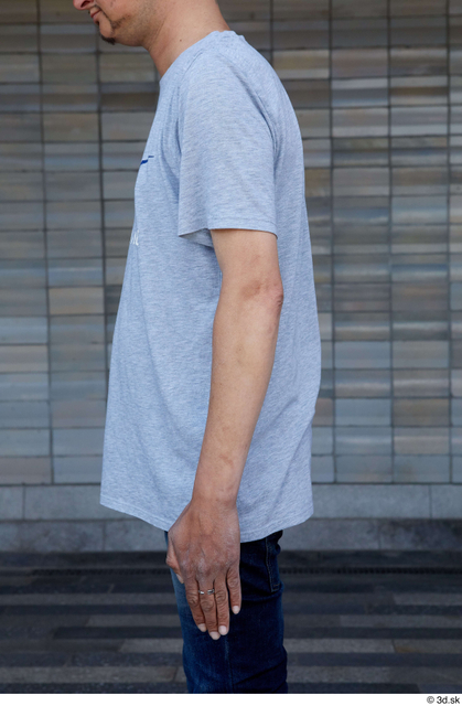 Arm Upper Body Man White Casual Slim Street photo references
