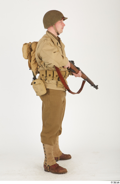 Whole Body Man White Army Uniform Average Standing Clothes photo references