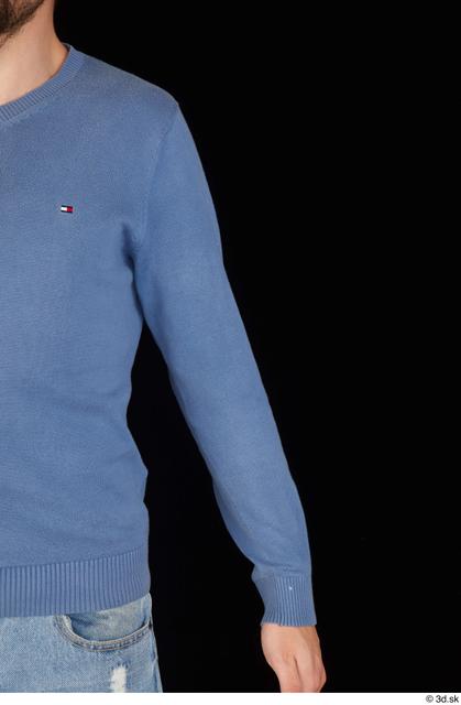 Arm Upper Body Man White Sweatshirt Slim Studio photo references