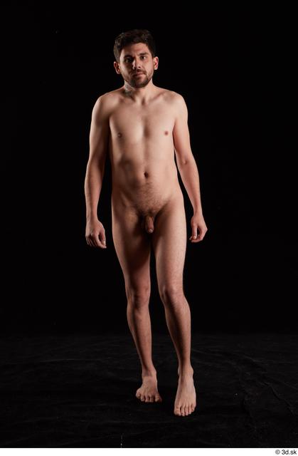 Whole Body Man White Nude Slim Walking Studio photo references