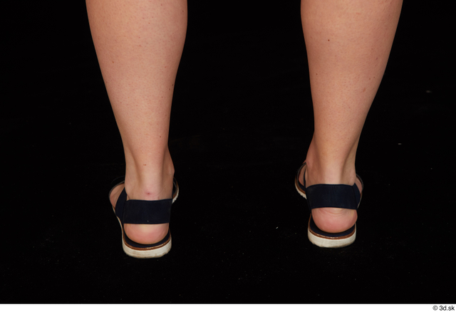 Foot Woman White Shoes Chubby Studio photo references