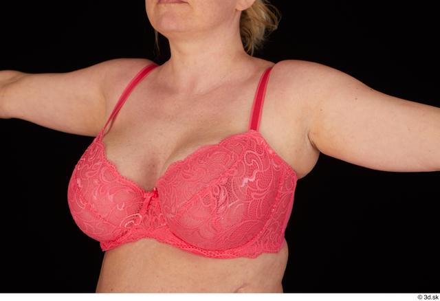 Chest Breast Woman White Underwear Bra Chubby Studio photo references