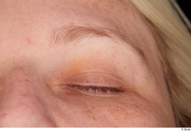 Eye Woman White Chubby Studio photo references