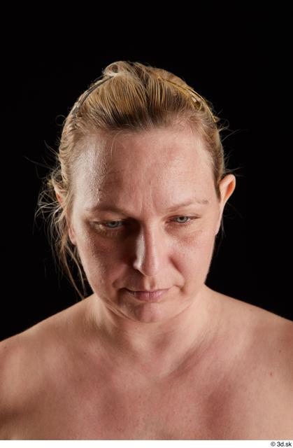 Head Woman White Chubby Studio photo references