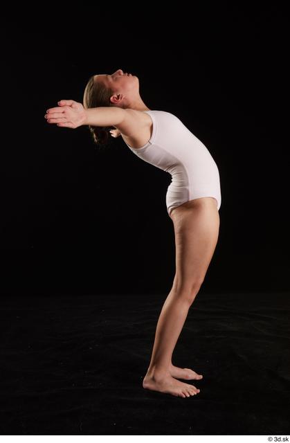 Whole Body Woman White Underwear Average Studio photo references