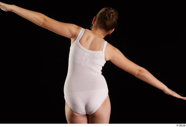 Upper Body Back Woman White Average Studio photo references