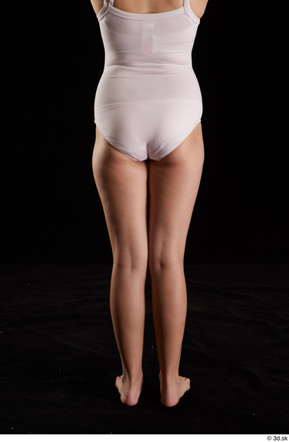 Hips Back Woman White Underwear Average Studio photo references