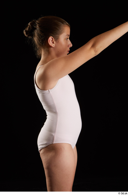 Arm Woman White Underwear Average Studio photo references