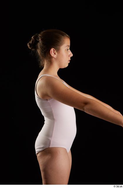 Arm Woman White Underwear Average Studio photo references