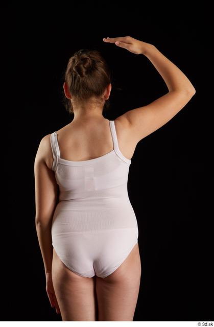 Arm Back Woman White Underwear Average Studio photo references