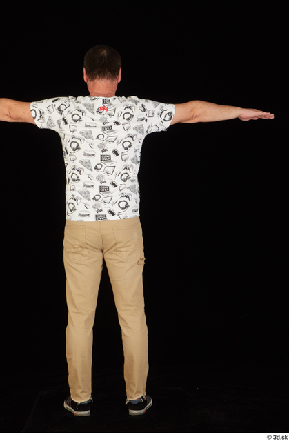 Whole Body Man T poses Shirt Trousers Chubby Standing Studio photo references