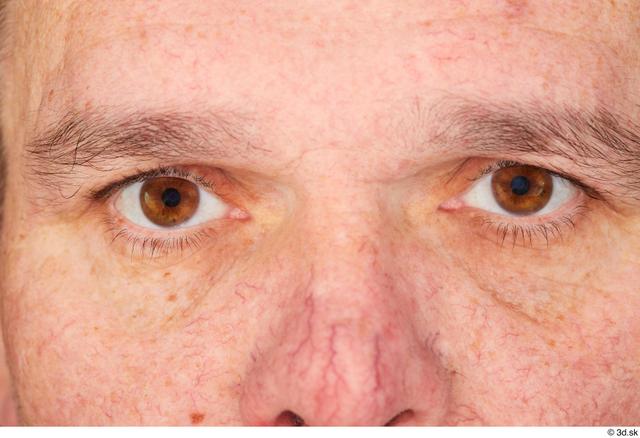 Eye Man White Chubby Studio photo references