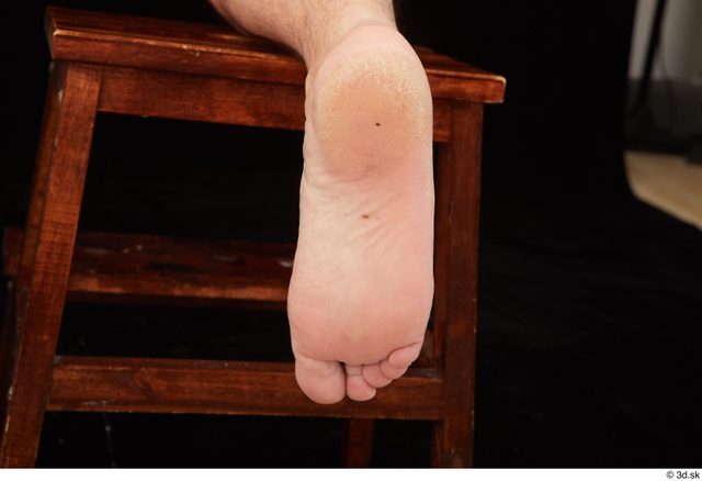 Foot Man Nude Chubby Studio photo references