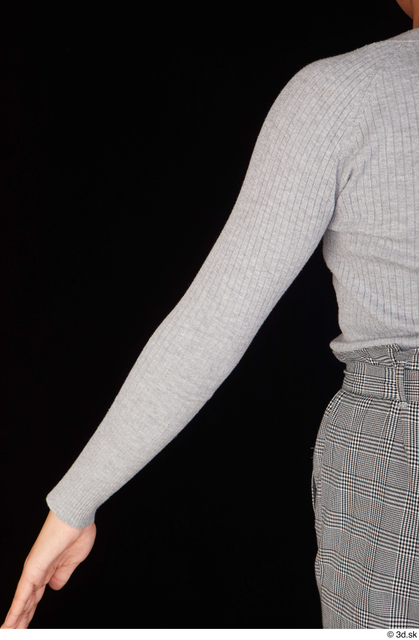 Arm Upper Body Woman Black Casual Sweatshirt Average Studio photo references