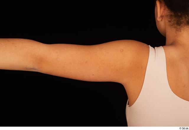 Arm Woman Black Average Studio photo references
