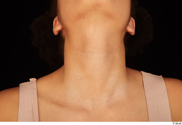 Neck Woman Black Nude Average Studio photo references