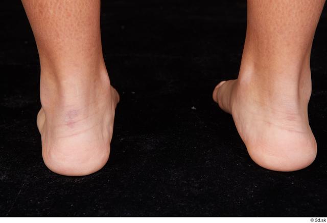 Foot Woman Black Nude Average Studio photo references