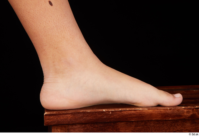 Foot Woman Black Nude Average Studio photo references