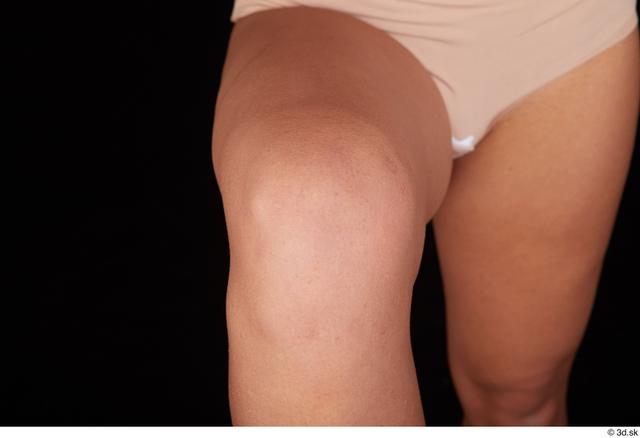 Knee Woman Black Nude Average Studio photo references