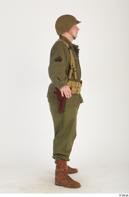 Whole Body Man White Army Uniform Average Standing Costume photo references