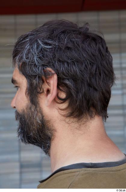 Head Man White Sports Average Bearded Street photo references