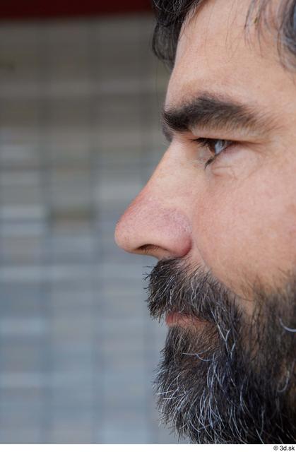 Nose Man White Sports Average Bearded Street photo references