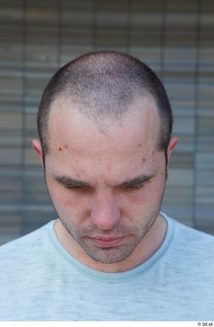 Head Hair Man White Casual Slim Street photo references