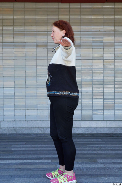 Whole Body Woman T poses White Sports Average Standing Street photo references
