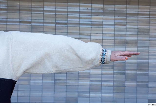 Arm Woman White Sports Average Street photo references