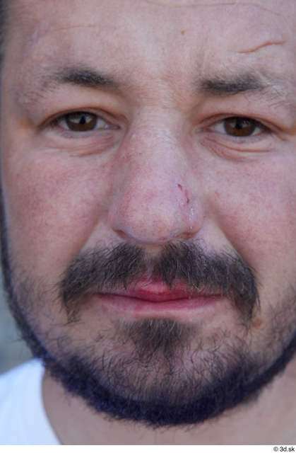 Face Nose Man White Sports Chubby Bearded Street photo references