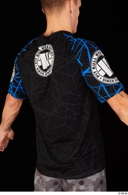 Upper Body Man White Sports Shirt Athletic Studio photo references