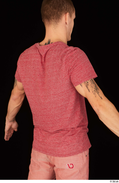 Upper Body Man White Casual Shirt Athletic Studio photo references