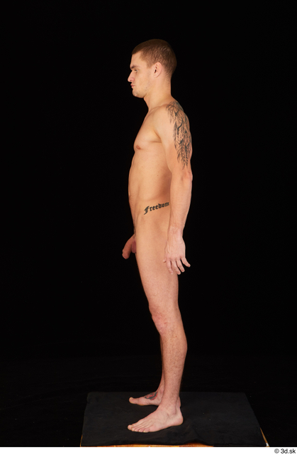 Whole Body Man White Nude Athletic Standing Studio photo references
