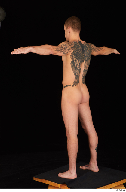Whole Body Man T poses White Nude Athletic Standing Studio photo references