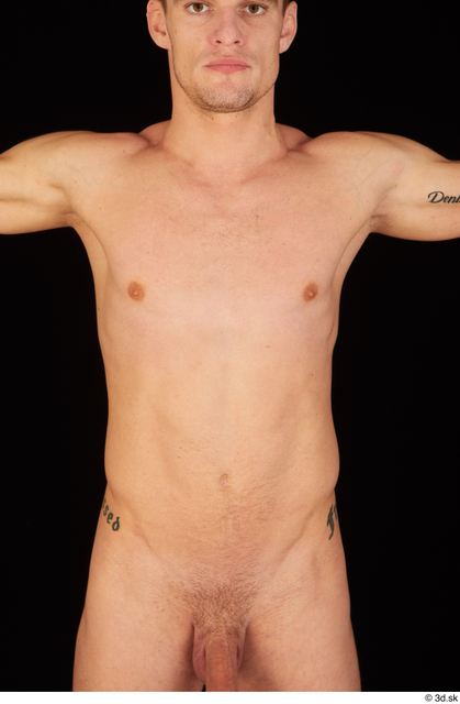 Chest Upper Body Man White Nude Athletic Studio photo references