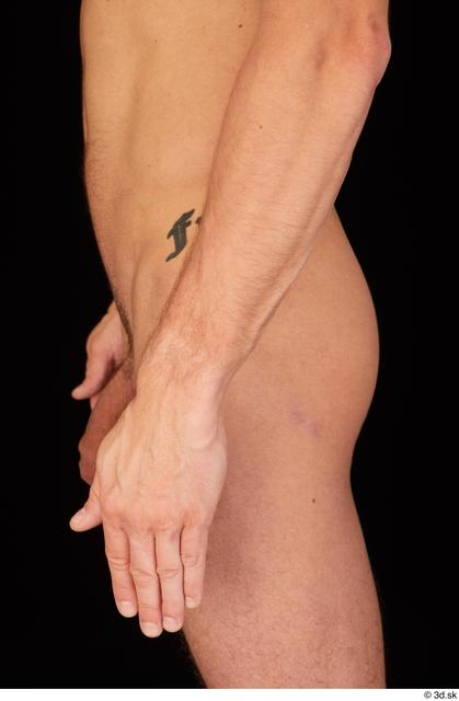 Forearm Hand Man White Nude Athletic Studio photo references