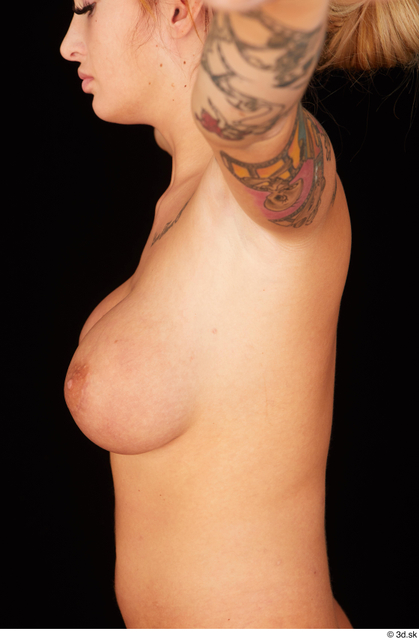 Chest Breast Woman White Nude Average Studio photo references