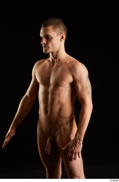 Arm Man White Nude Athletic Studio photo references