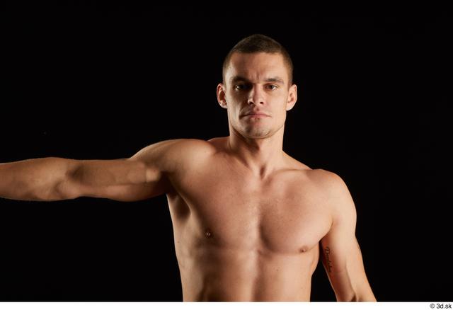 Arm Man White Nude Athletic Studio photo references
