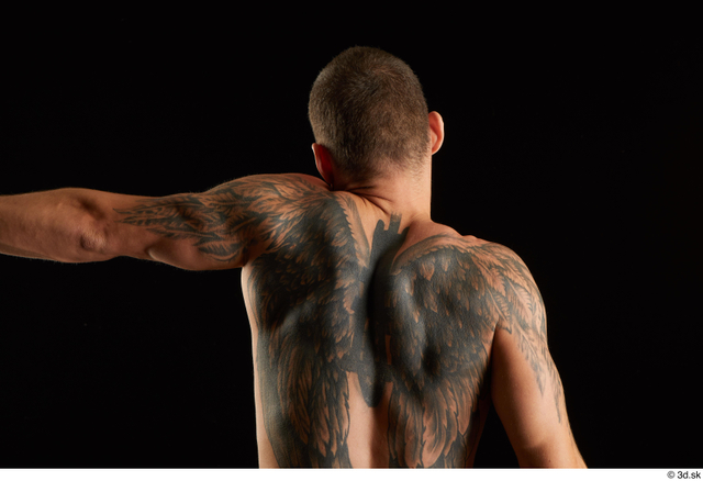 Arm Back Man White Nude Athletic Studio photo references