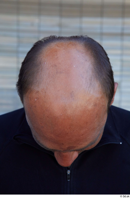 Head Man White Sports Average Bald Street photo references