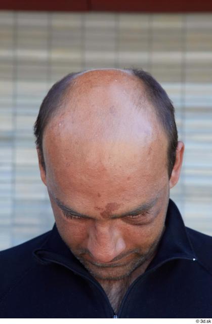 Head Man White Sports Average Bald Street photo references