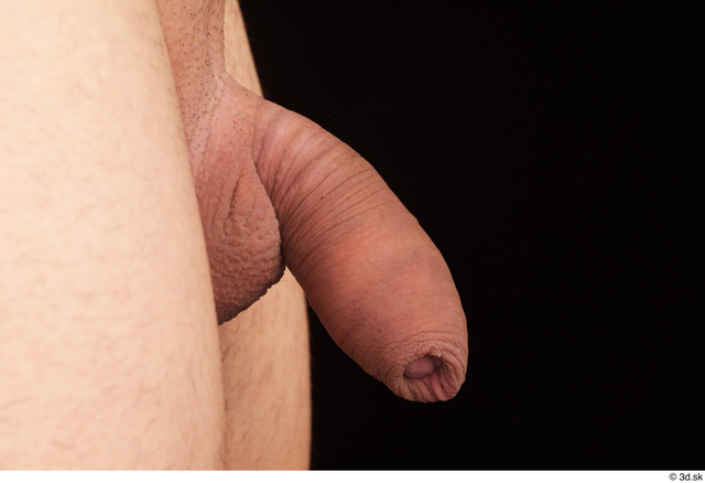 Penis Man White Nude Slim Studio photo references