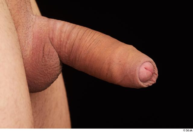 Penis Man White Nude Slim Studio photo references