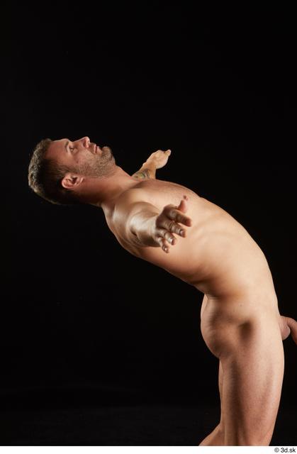 Upper Body Man White Nude Slim Studio photo references