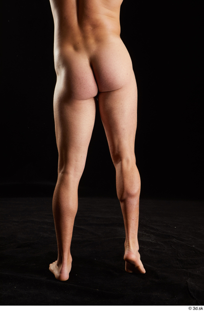Hips Back Man White Nude Slim Studio photo references